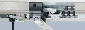 Hormann latch locking system in operator boom