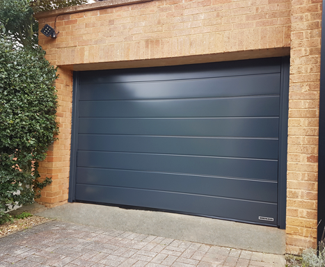 Anthracite Hormann sectional garage door